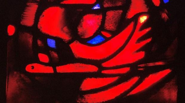 Pentecôte vitrail Taizé