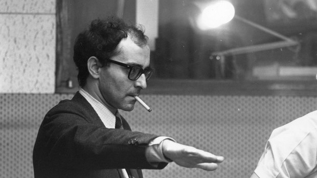 French film director Jean-Luc Godard during the filming of 'Sympathy For the Devil' (aka 'One Plus One'), featuring the Rolling Stones.  Original Publication: People Disc - HF0546   (Photo by Larry Ellis/Getty Images)