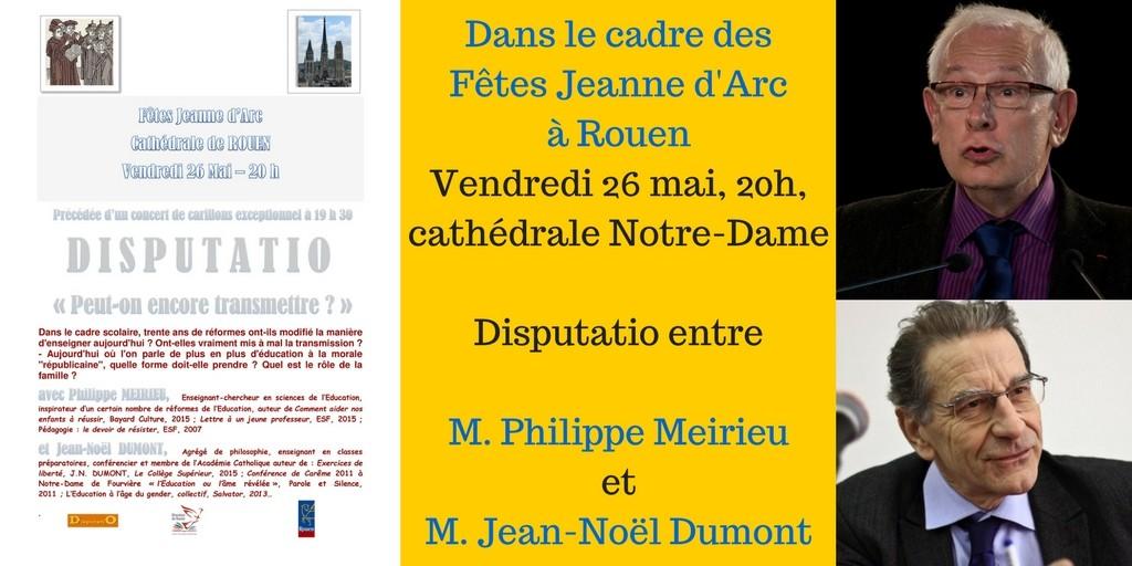 Dans le cadre des fêtes Jeanne d'Arc à RouenVendredi 27 mai, 20h, cathédrale Notre-DameDisputatio-2
