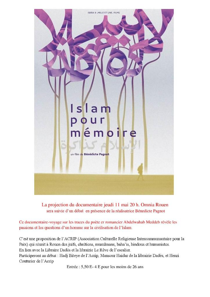 ISLAM POUR MEMOIRE PROJECTION et DEBAT de ce documentaire-page-001