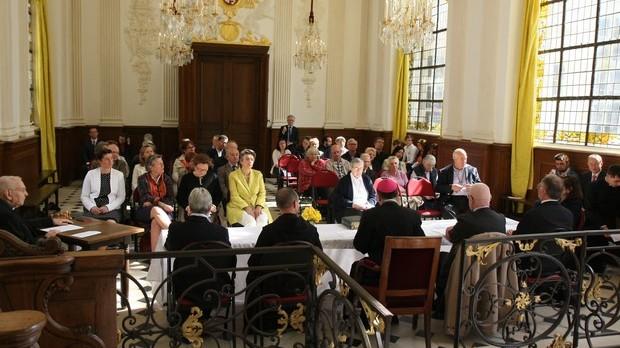 titre Photo 1 - 1re session du procès en vue de la béatification du père Jacques Hamel - Chapelle d'Aubigné de l'archevêché de Rouen - Copie