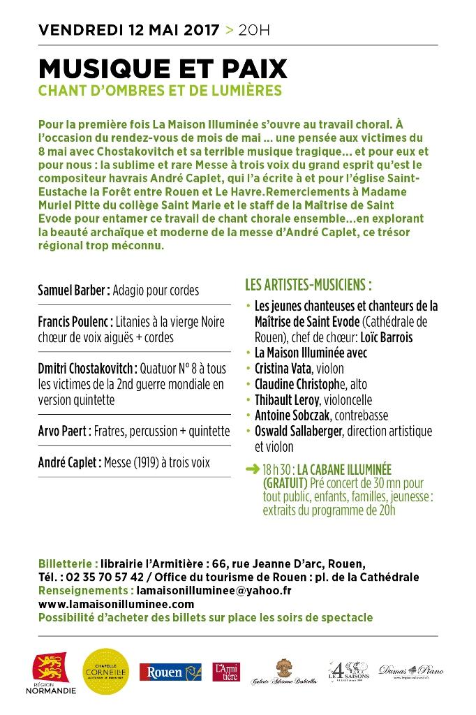 verso cartes musique et paix 100x150