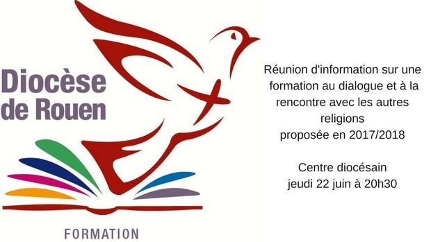 Réunion d'information sur une formation au dialogue et à la rencontre avec les autres religionsproposée en 20172018,