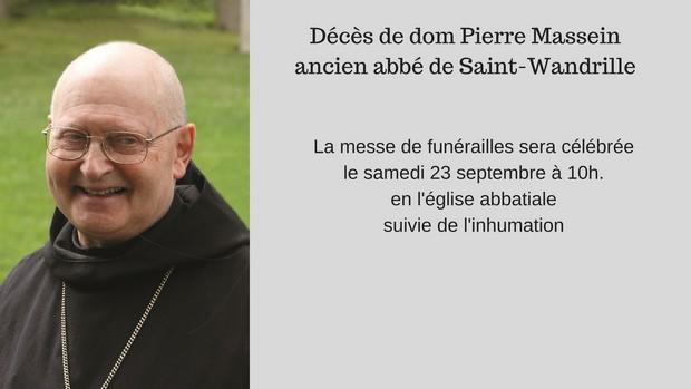 Décès de dom Pierre Masseinancien abbé de Saint-Wandrille