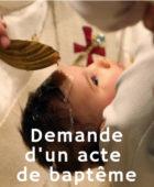 Demande d'un acte de baptême (2)
