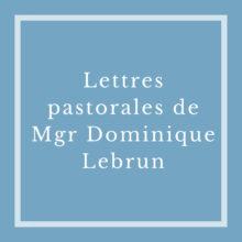 Lettres pastorales