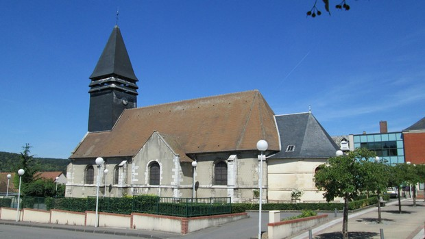 L'église Saint Aubin Petit- Couronne