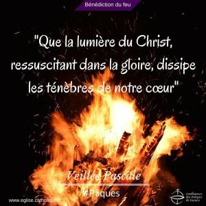 Veillée pascale bénédiction du feu