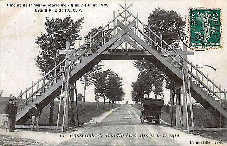 16 Passerelle de Londinières aménagée pour le circuit de la Seine-Inférieure