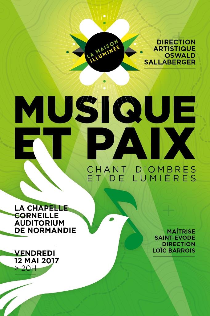 recto cartes musique et paix 100x150