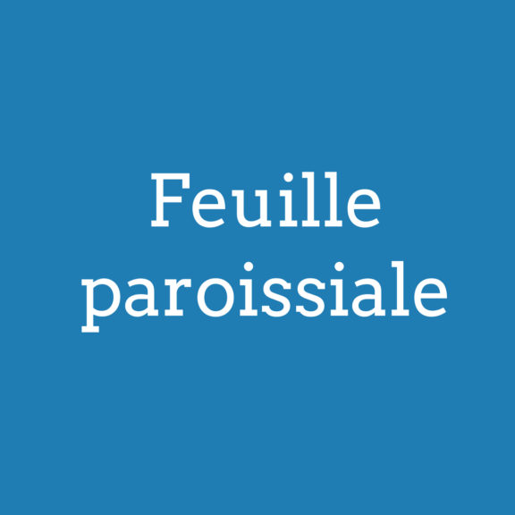 Feuille paroissiale (2)