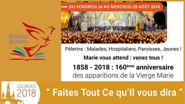 Calendrier Des Pelerinages Lourdes 2019.123e Pelerinage Diocesain A Lourdes Diocese De Rouen