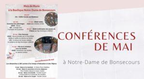 Conférences de mai