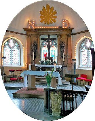 Le Chœur de l'église Notre Dame de Cuverville
