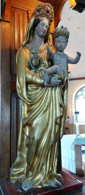 La Vierge du vœu de l'église de Cuverville