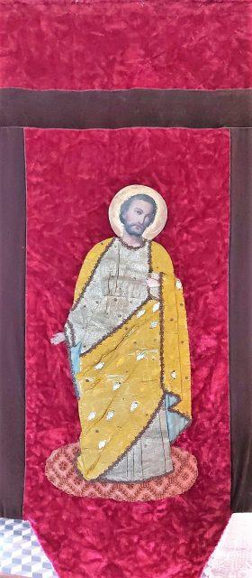 Bannière de Saint Joseph dans l'église de Cuverville